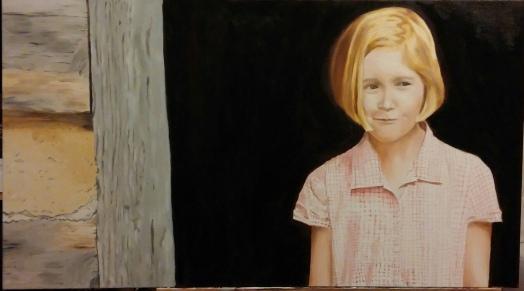 Girl in Doorway 20x36